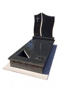 Royal Black szimpla sírkő