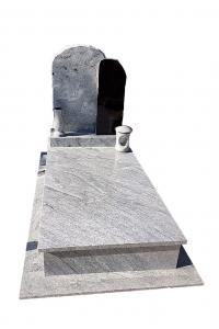Wiscount White-Zimbabwe Black szimpla sírkő