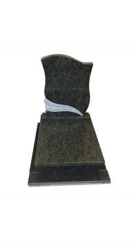 Verda Bahia gránit urna sírkő