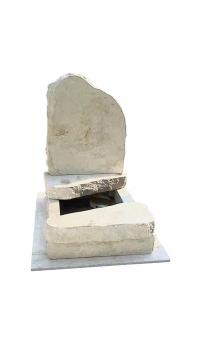 Sziklás mészkő urna sírkő