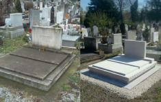 Régi sírkövek felújítása, tisztítása